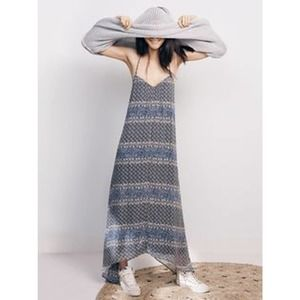 Madewell Blue Moroccan Tile Maxi Dress